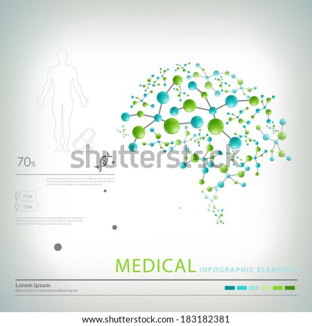 medical infographic elements  - stock vector