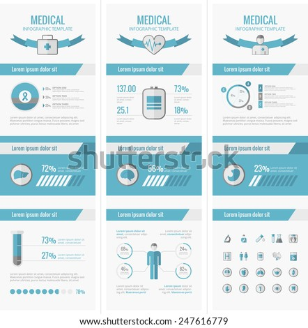 Medical Infographic Elements. - stock vector