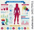 Medical infographic elements collection. - stock