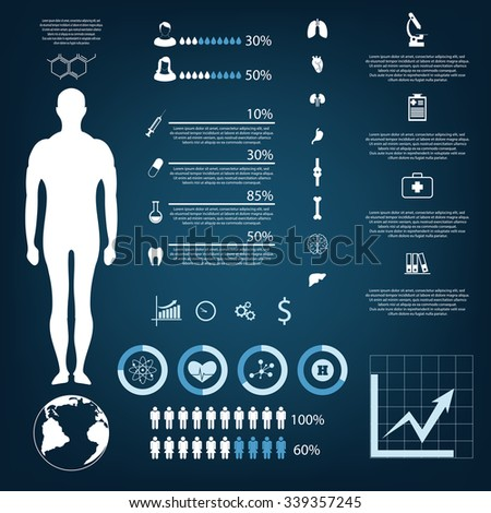 medical infographic elements eps 10 vector - stock vector