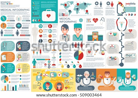 Medical Infographic Elements Vector Design Template Stock ...