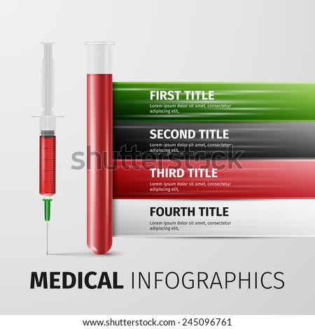 Medical Infographic. excellent vector illustration, EPS 10 - stock vector