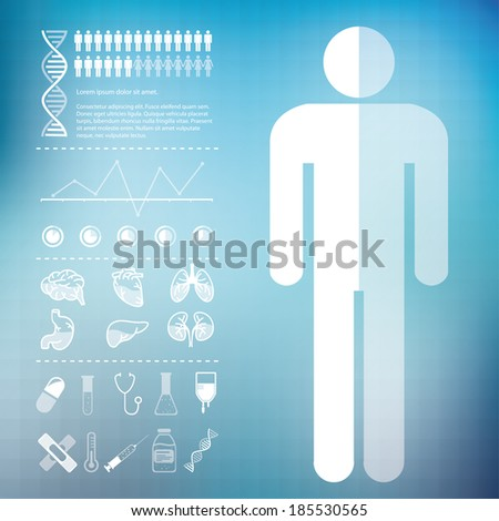 Medical infographic on a medical blue background - stock vector