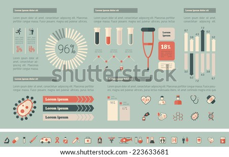Medical Infographic Template. - stock vector
