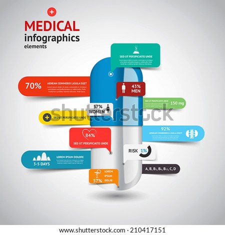 Medical Infographics elements.Design concept. Vector - stock vector