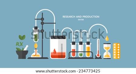 Medical laboratory infographics - stock vector