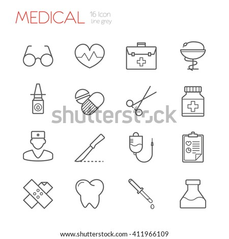 Medical line icon - stock vector