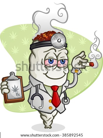 Medical Marijuana Doctor Cartoon Character