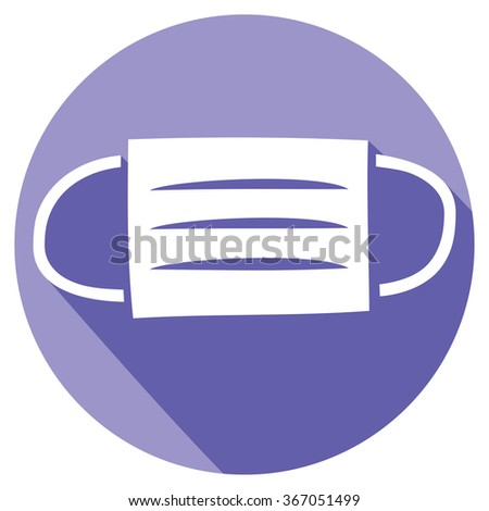 medical mask flat icon (surgical mask icon) - stock vector