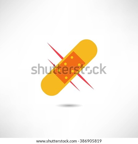 Medical patch icon - stock vector