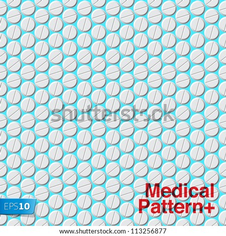 Medical pattern with pills, vector Eps 10 illustration.