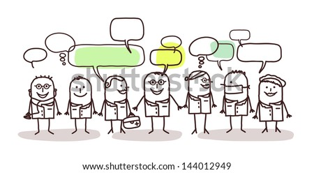 medical people and social network - stock vector