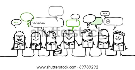 medical people & social network - stock vector