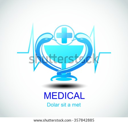 Medical pharmacy logo design template.- vector illustrator - stock vector