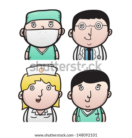 Medical professionals, doctor, surgeon and nurses
