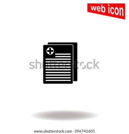 Medical records icon. Medical records icon vector. Medical records icon illustration. Medical records icon web. Medical records icon Eps10. Medical records icon image. Medical records icon logo. - stock vector