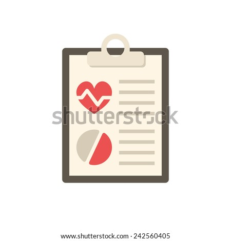 Medical report, modern flat icon - stock vector