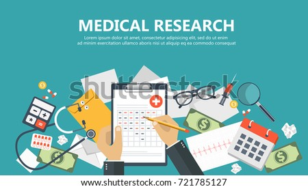 medical research banner medical workplace flat stock vector rh shutterstock com Medical Symbol Vector Vector Medical Resume