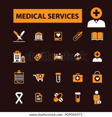medical services icons  - stock vector