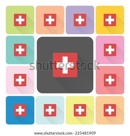 Medical sign Icon color set vector illustration. - stock vector
