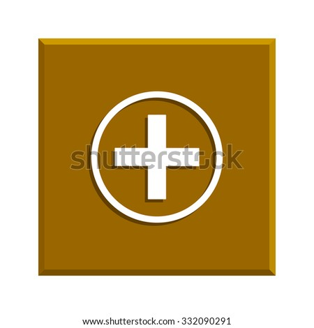 Medical sign in glossy button vector EPS - stock vector
