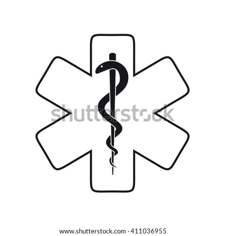 medical sign isolated - stock vector