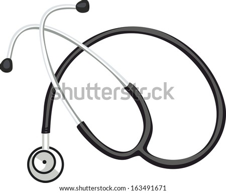 Medical stethoscope - stock vector