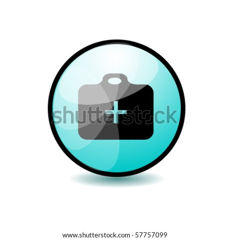 Medical suitcase - stock vector