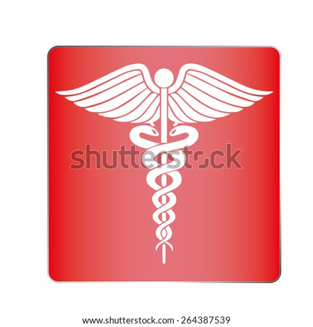 Medical symbol (emblem for drugstore or medicine, medical sign, symbol of pharmacy, pharmacy snake symbol) - stock vector