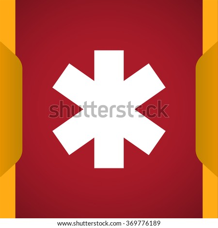 Medical symbol of the Emergency icon - stock vector