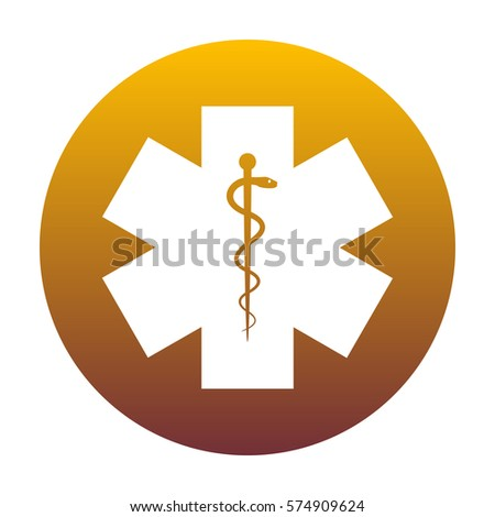 Medical Symbol Emergency Star Life White Stock Photo Photo Vector