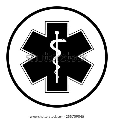 Medical symbol of the Emergency - Star of Life - icon isolated - stock vector
