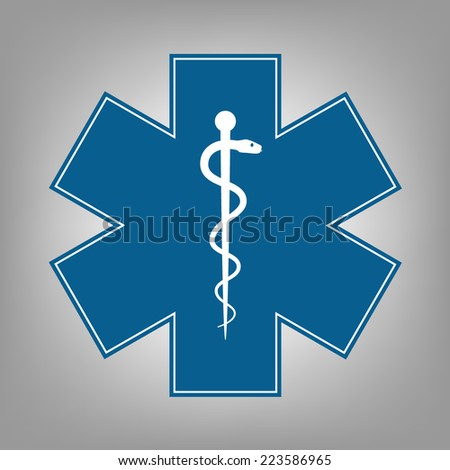 Medical symbol of the Emergency - Star of Life - icon. Vector - stock vector