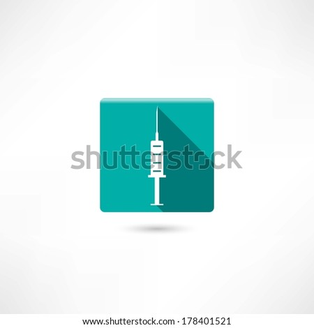 Medical  syringe - stock vector