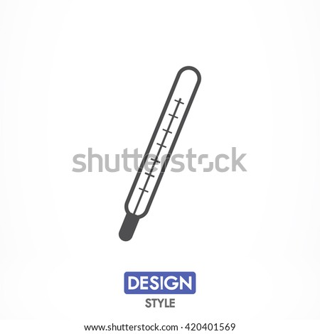 Medical thermometer icon, Medical thermometer pictograph, Medical thermometer web icon, Medical thermometer icon vector, Medical thermometer icon eps, Medical thermometer icon illustration - stock vector