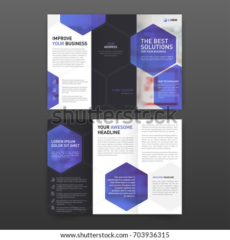 Medical Tri Fold Brochure Template Layout Vector 714386098 – Drug Brochure