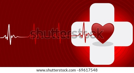 Medical vector background with space for your text - stock vector