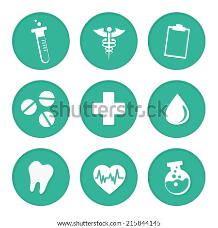 Medical vector icon in green circle - stock vector