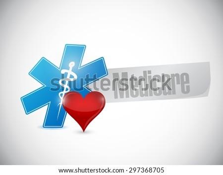 Medicare medical symbol sign illustration design over white - stock vector