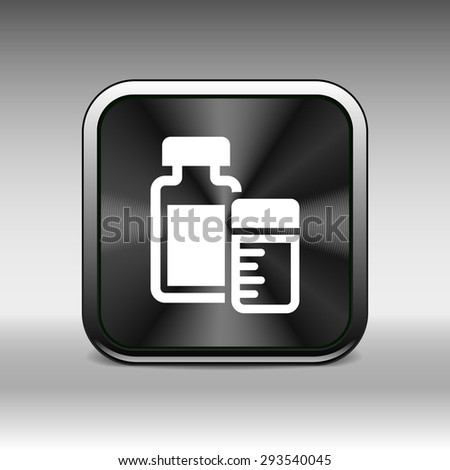 medication icon vector chemistry Flat design style. - stock vector
