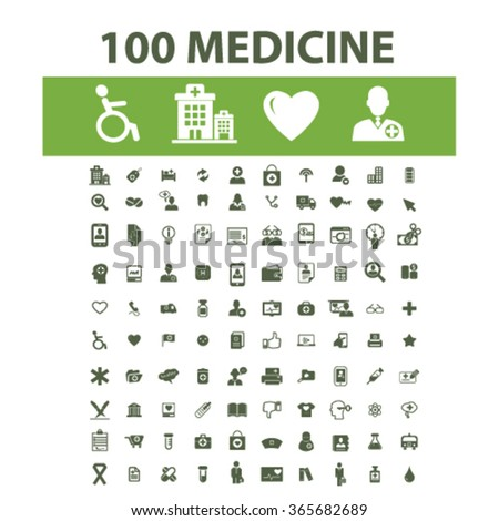 medicine and pharmacy icons, signs vector concept set for infographics, mobile, website, application  - stock vector