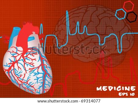medicine background. EPS10 - stock vector