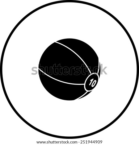 medicine ball symbol - stock vector