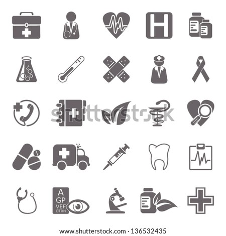 Medicine basic icons - stock vector
