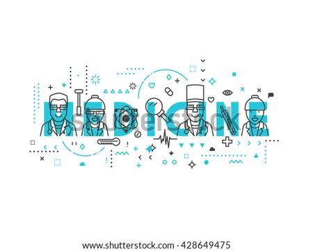 Medicine concept design. Creative design elements for websites, mobile apps and printed materials. Medicine banner design - stock vector