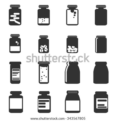 medicine icon bottles  vector illustration - stock vector