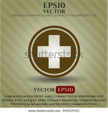 Medicine icon vector illustration - stock vector