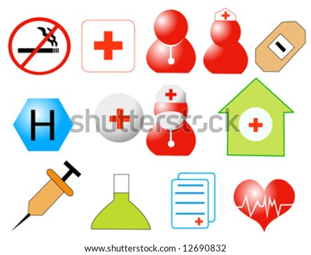 Medicine icons vector illustration - stock vector