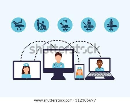 medicine online design, vector illustration eps10 graphic  - stock vector