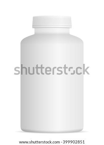 Medicine pill bottle on a white background. - stock vector